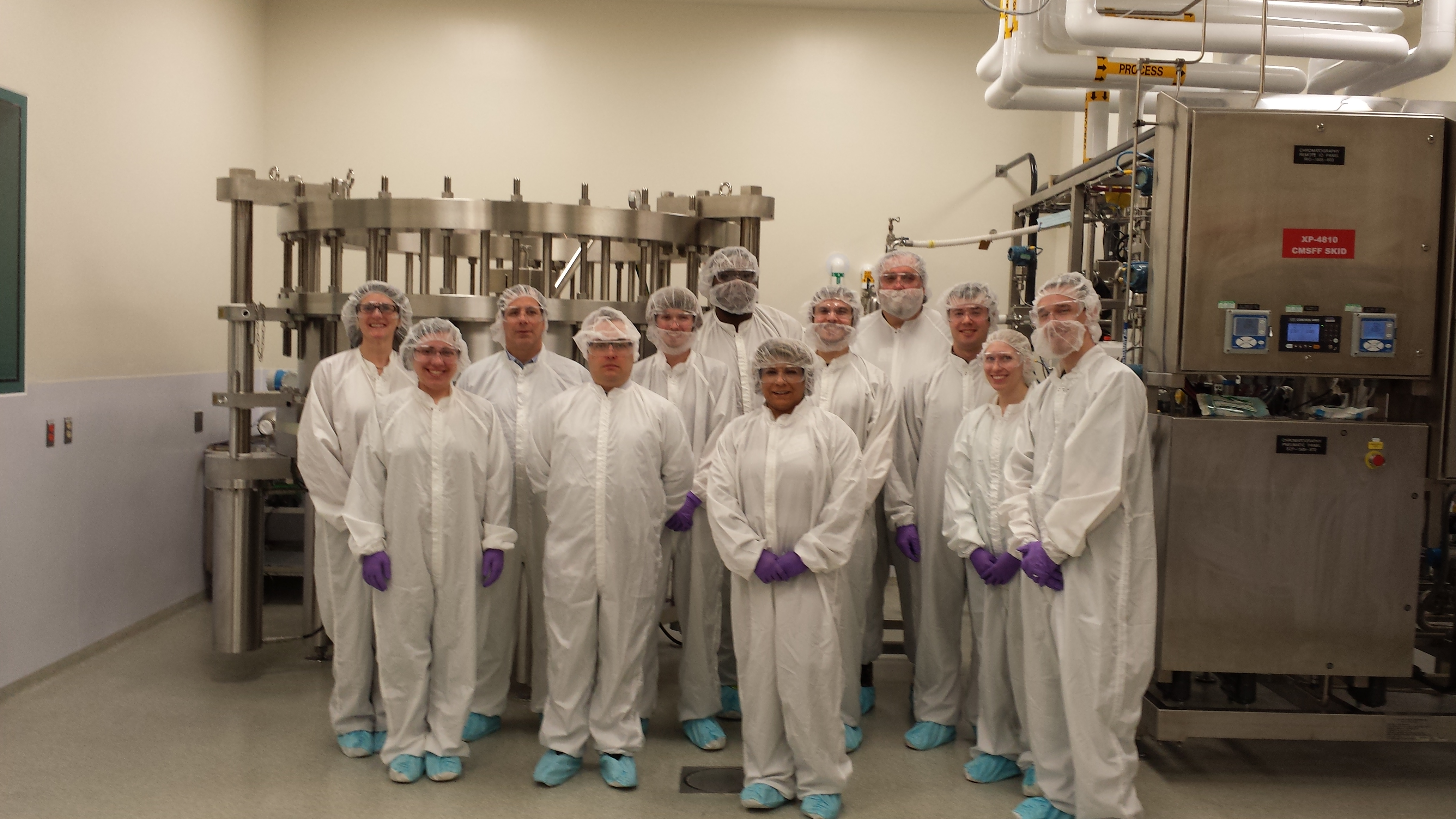 Montgomery County Community College Biomanufacturing students tour the GSK Biopharm facility in King of Prussia, PA.