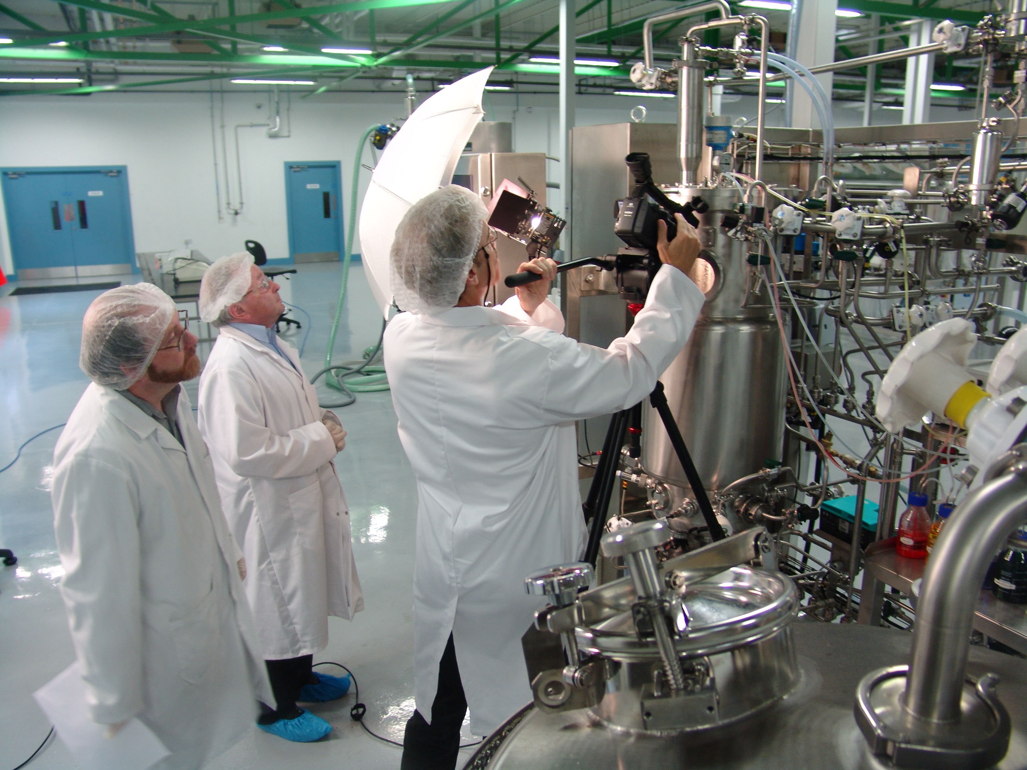 Filming of Production Bioreactor Operation at FAS Biopharmaceutical Training Center in Carrigaline, Ireland